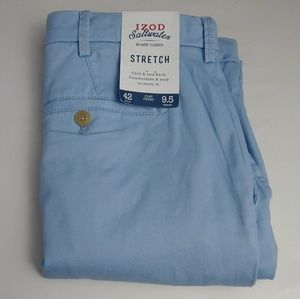 NWT Izod flat front blue shorts men's size 42